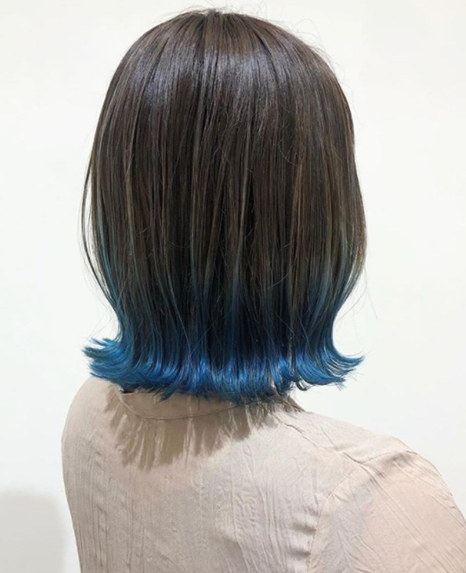 ブルーのグラデーションカラー