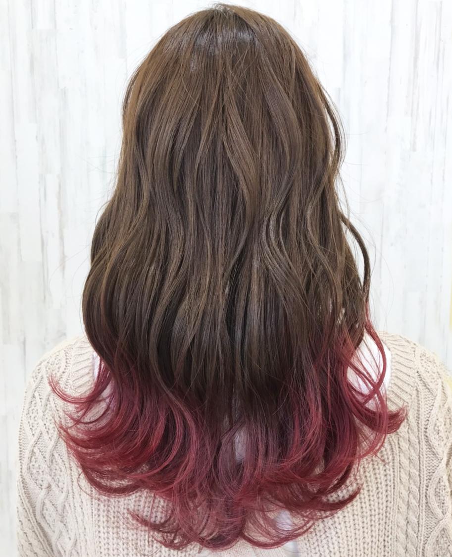 ピンクのグラデーションカラー