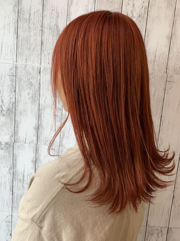 オレンジ感強めブラウン