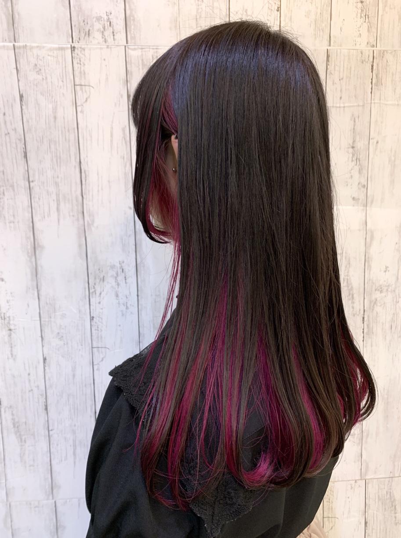 甘すぎないピンクのインナーカラー