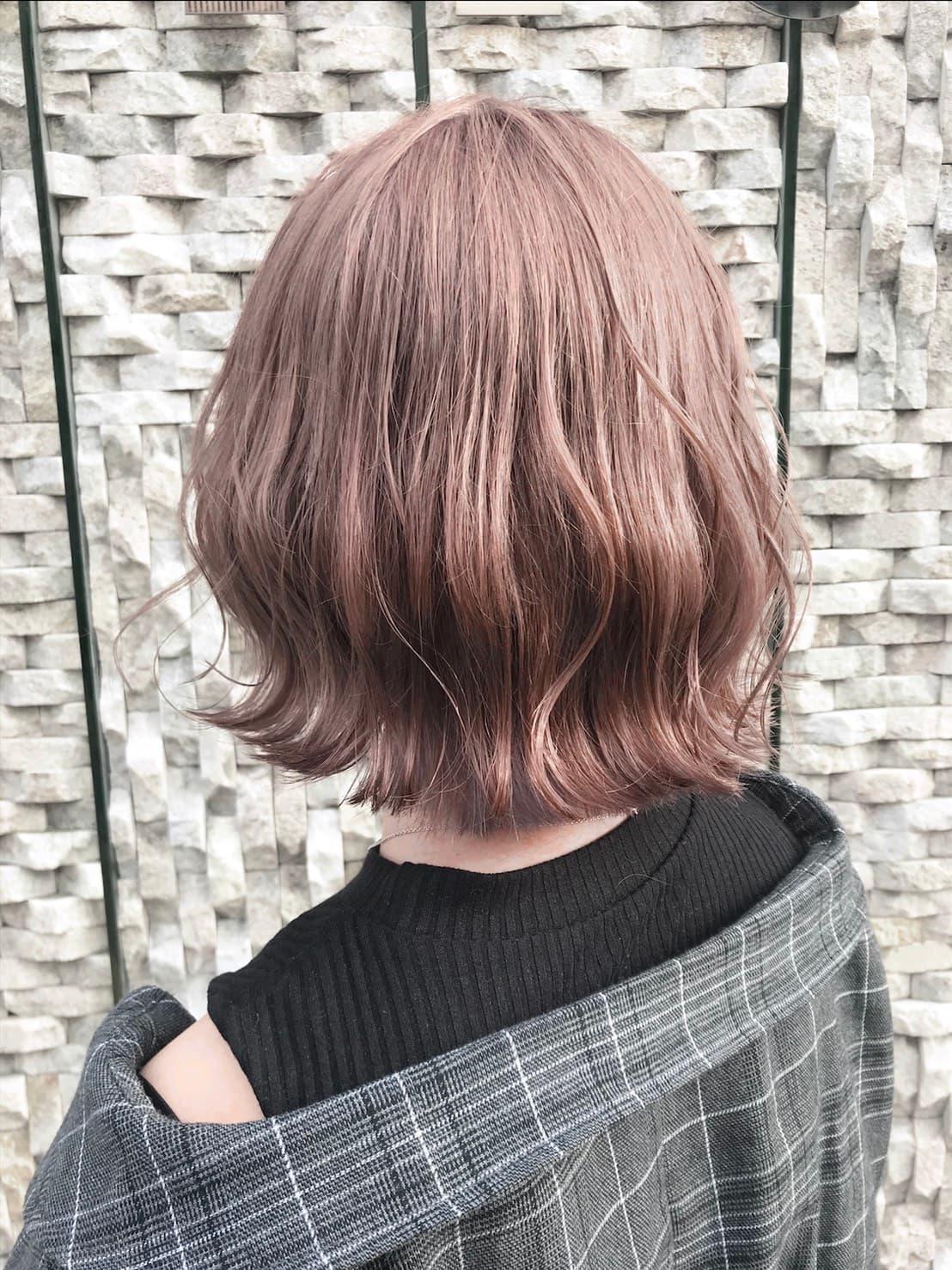 ピンクとベージュ♡かわいさ最強カラー【ピンクベージュ】